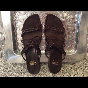 EUC Stuart Weitzman Chocolate Leather Sandal
